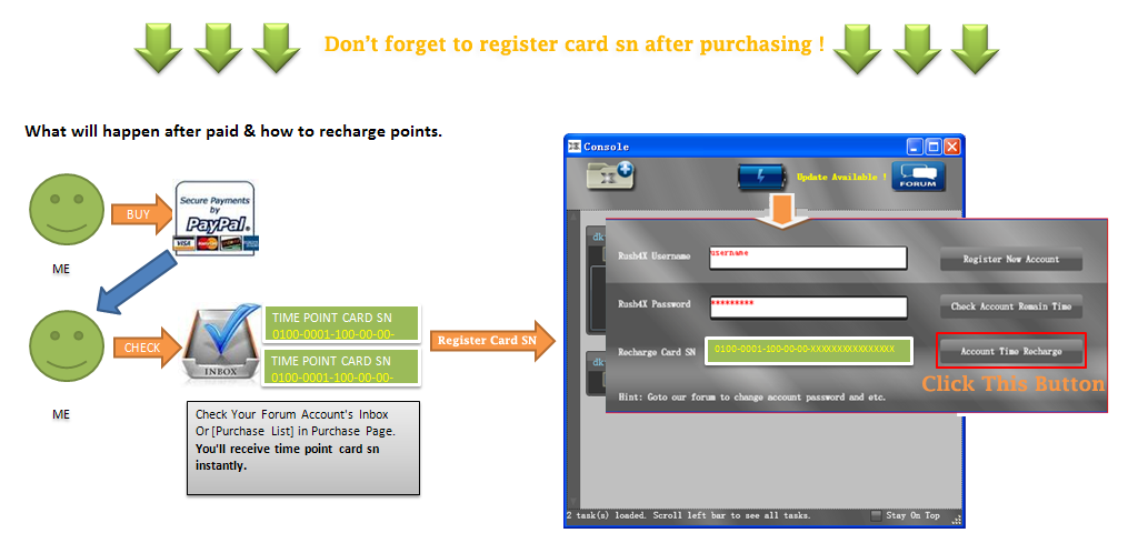 Register card sn after buy